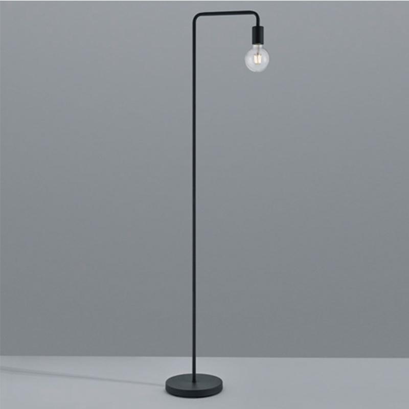 Vloerlamp Diallo - Metaal - Zwart Mat