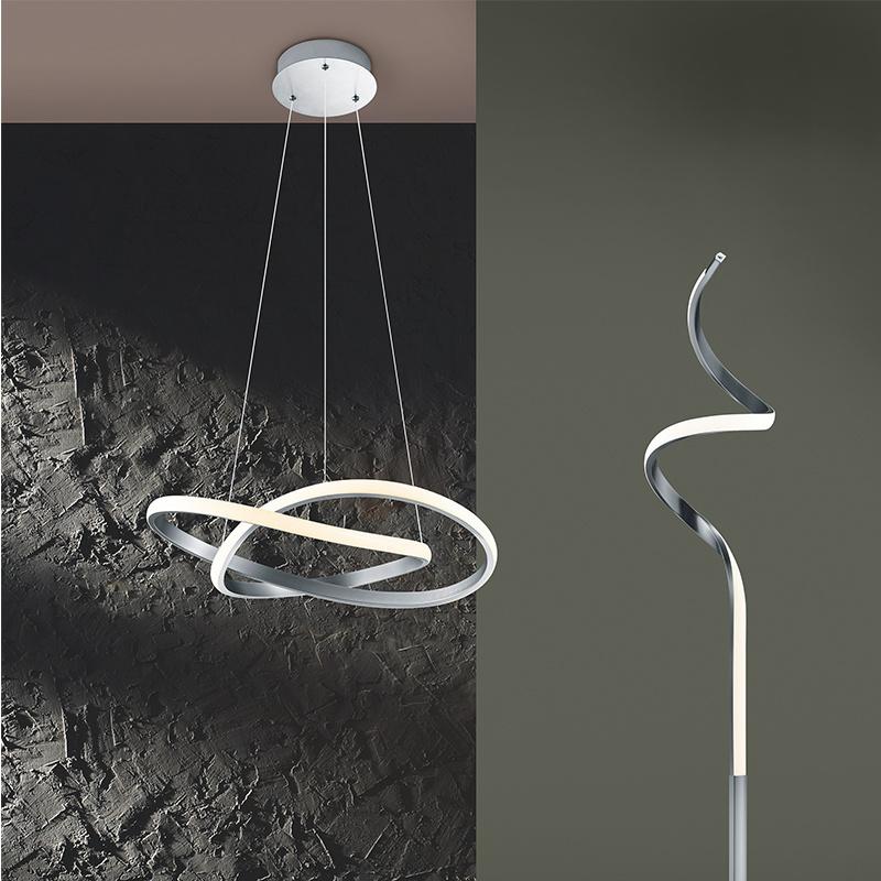 Hanglamp Course - Metaal - Nikkel Mat