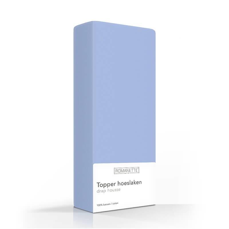 Luxe Katoenen Topper Hoeslaken - Blauw