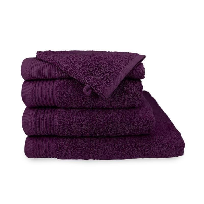 2-PACK: Handdoek - Deluxe - Aubergine
