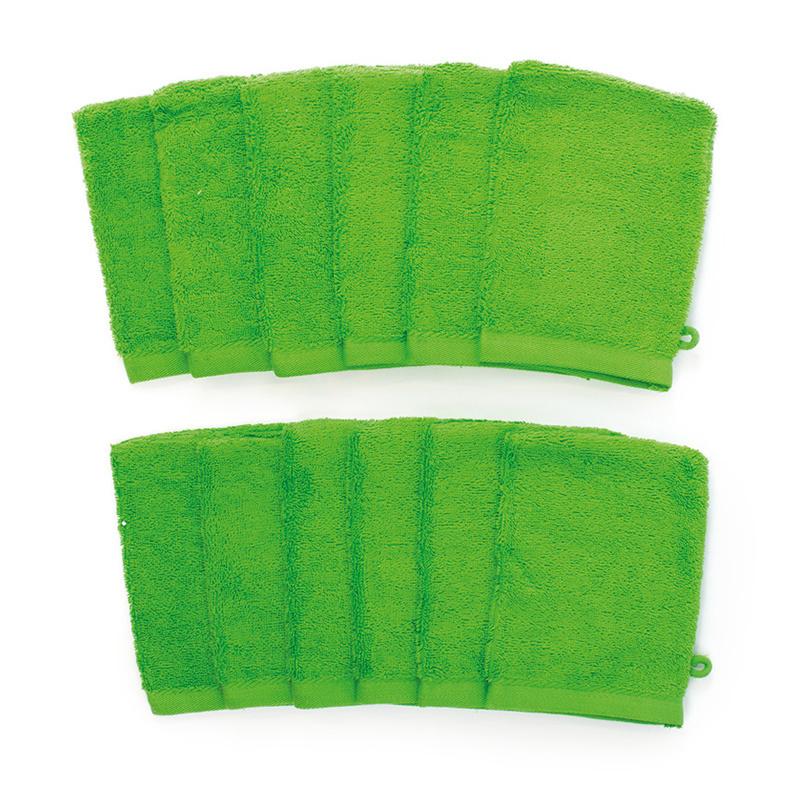 12-PACK: Washandjes - 16 x 21 cm - Lime Groen