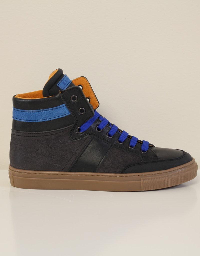 Banaline 32270 zwarte sneaker blauwe veters