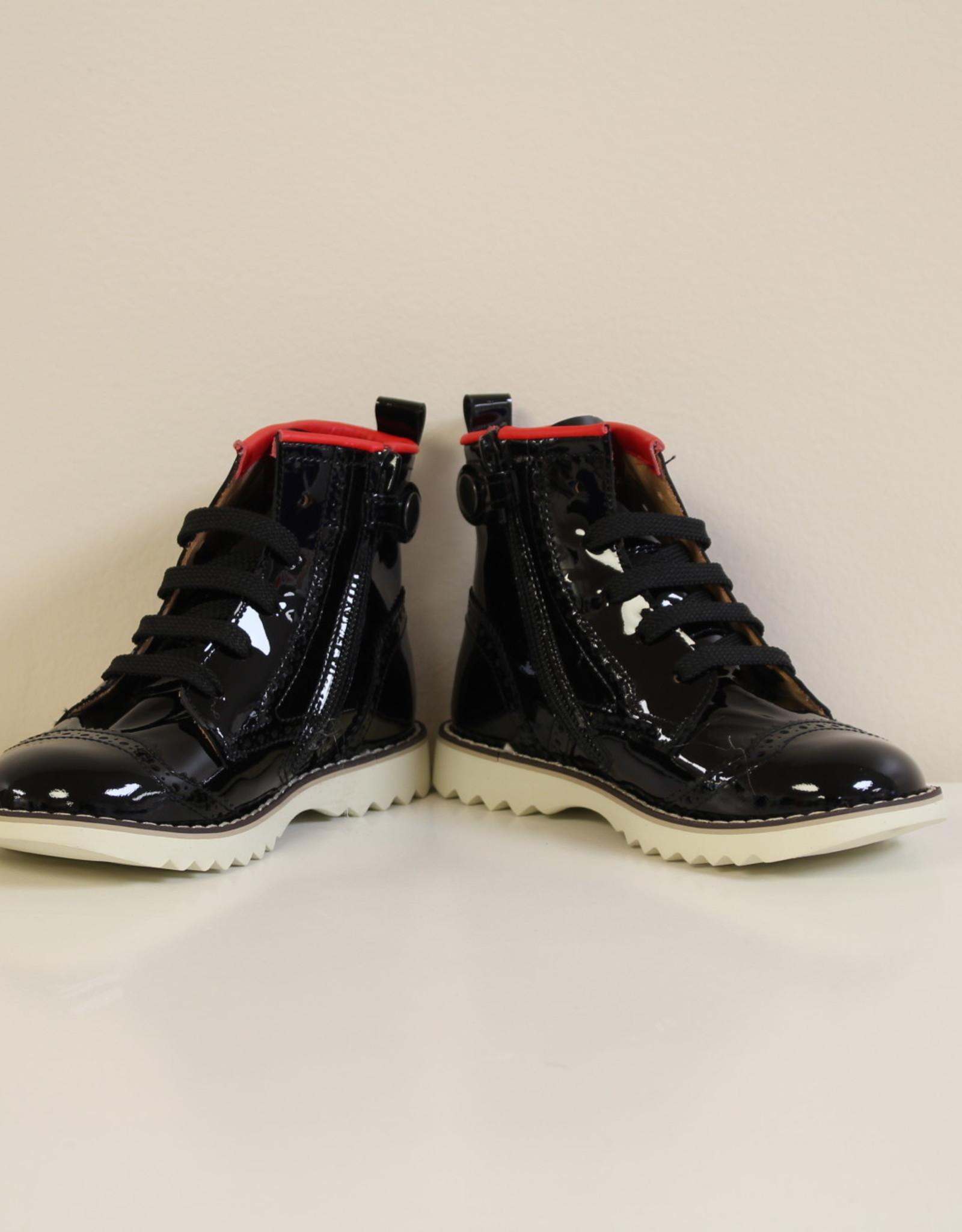 Rondinella 4460-1 laarsje zwart rood
