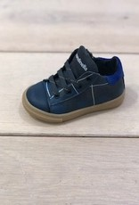 Rondinella 4306-1 sneaker blauw veter/rits