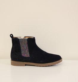 Pom d'Api Trip chelsea boot velours navy