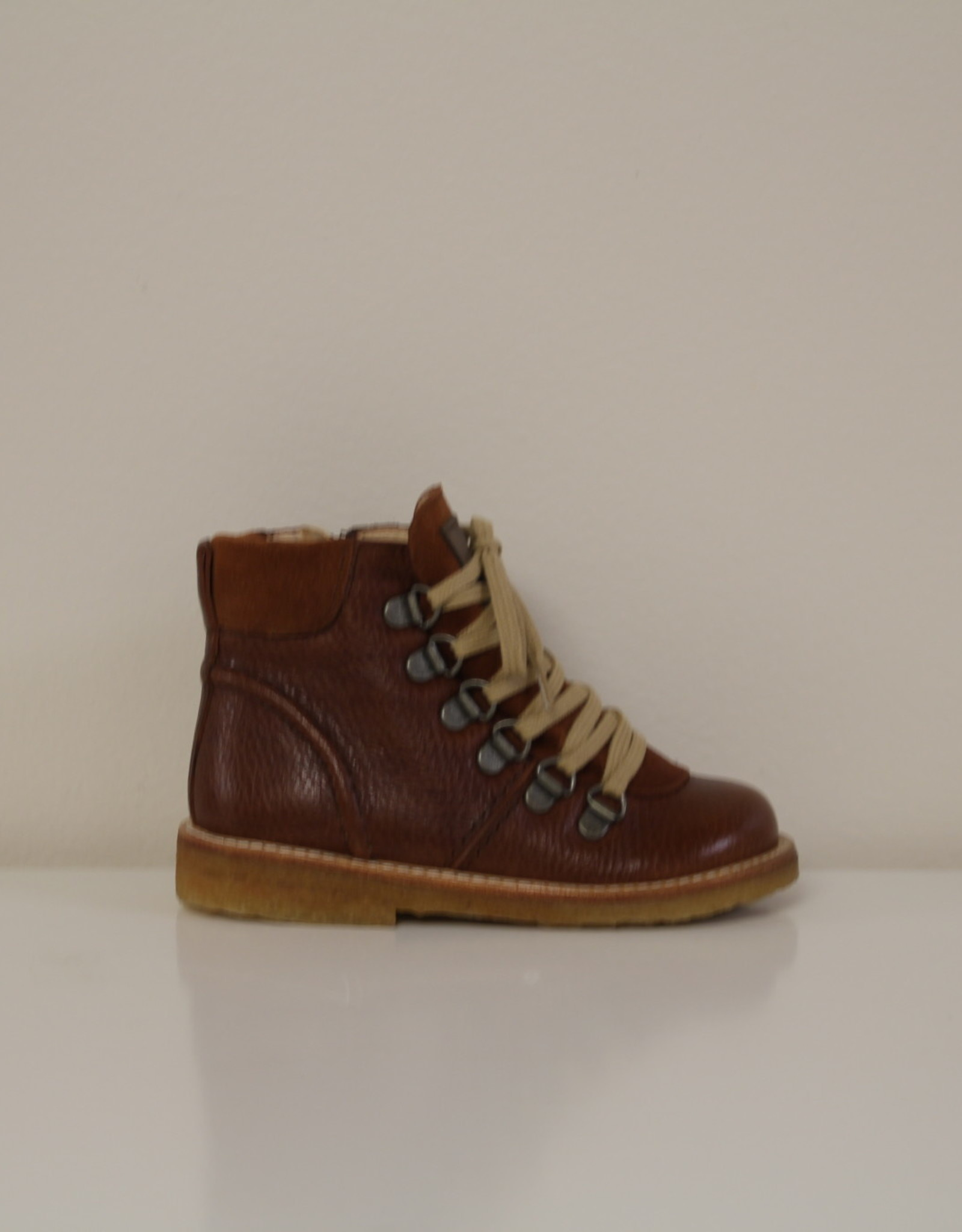 Angulus lace-up boot with zipper bruin