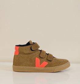 VEJA esplar mid velcro tent orange fluo naturel sole