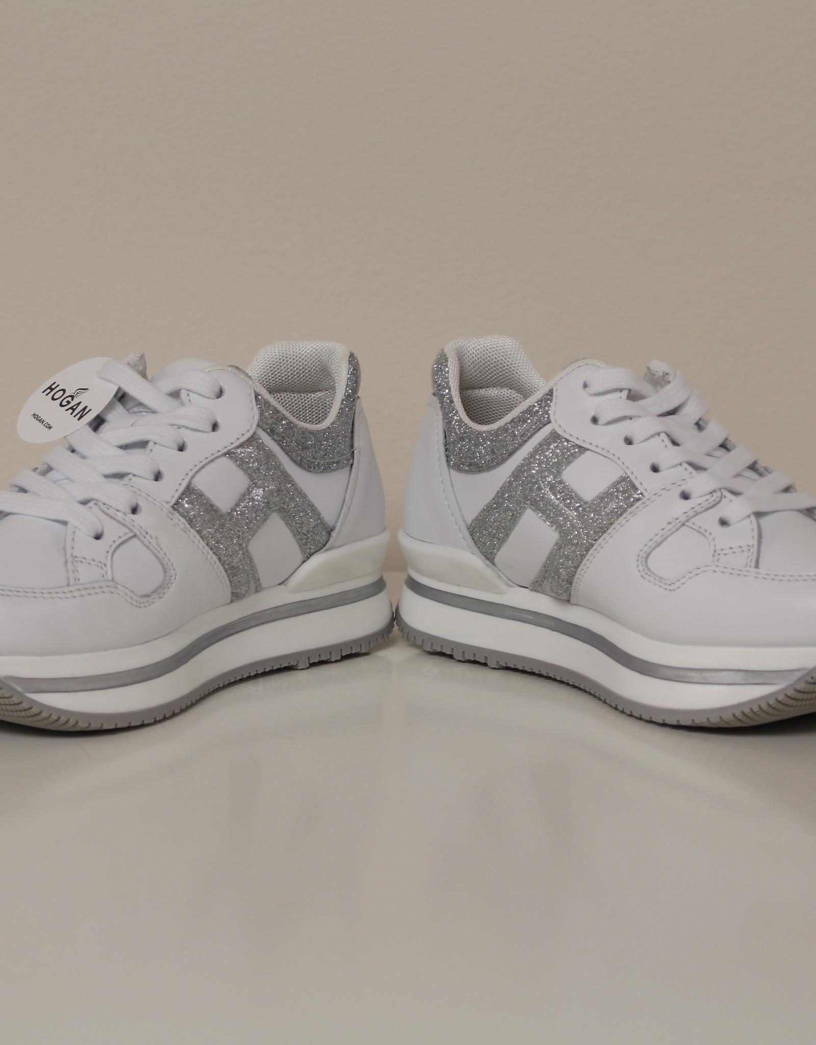 Hogan HXC2220T548NM40351 witte sneaker met zilver
