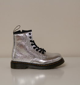 Dr Martens 1460 silver crinkle metallic