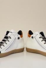 Rondinella 11089-2 witte sneaker veter/rits