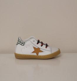 Rondinella 4316-10B witte sneaker cognac ster