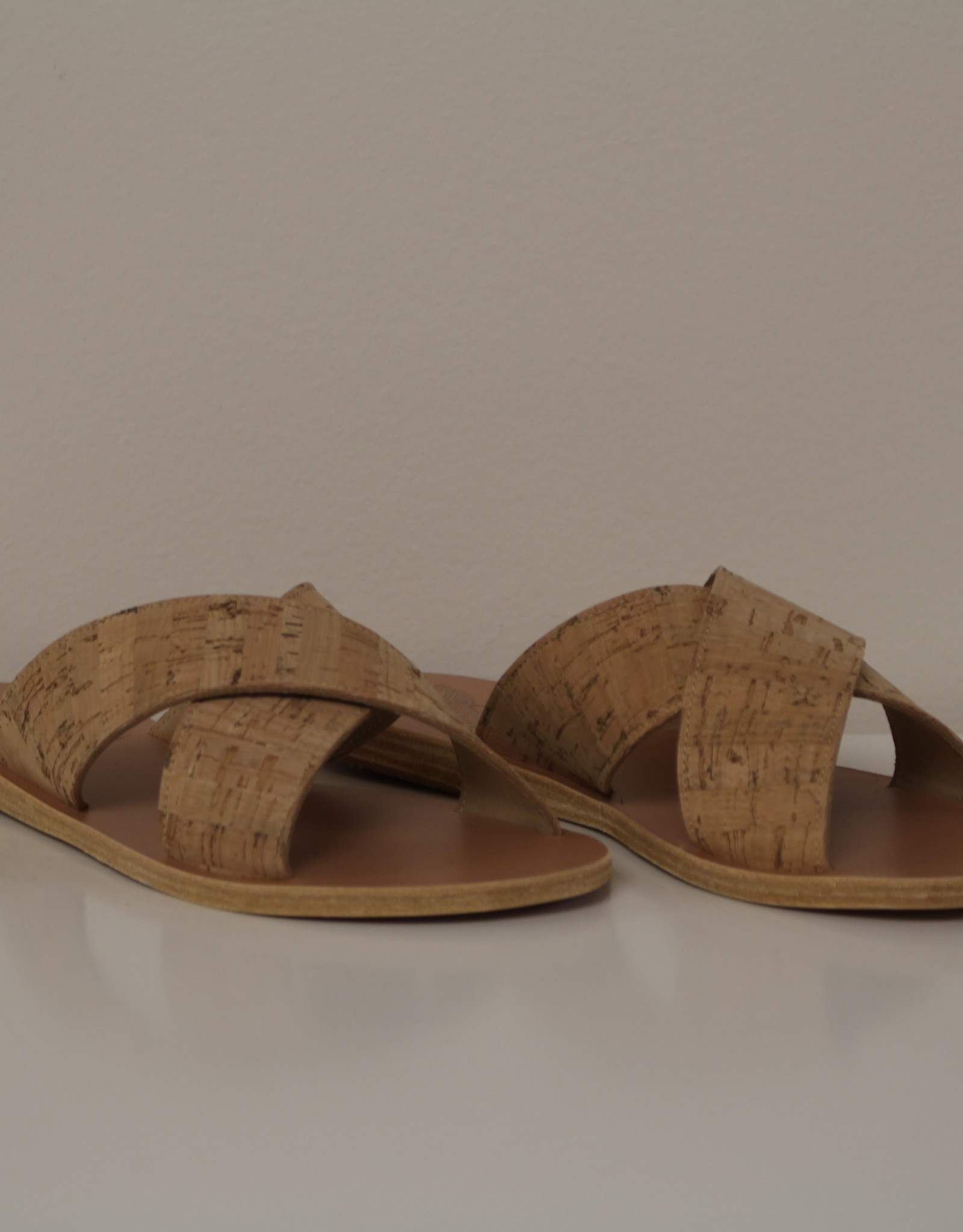Ancient Greek Sandals Thais plain cork