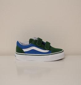 Vans UY old skool V blauw groen velcro