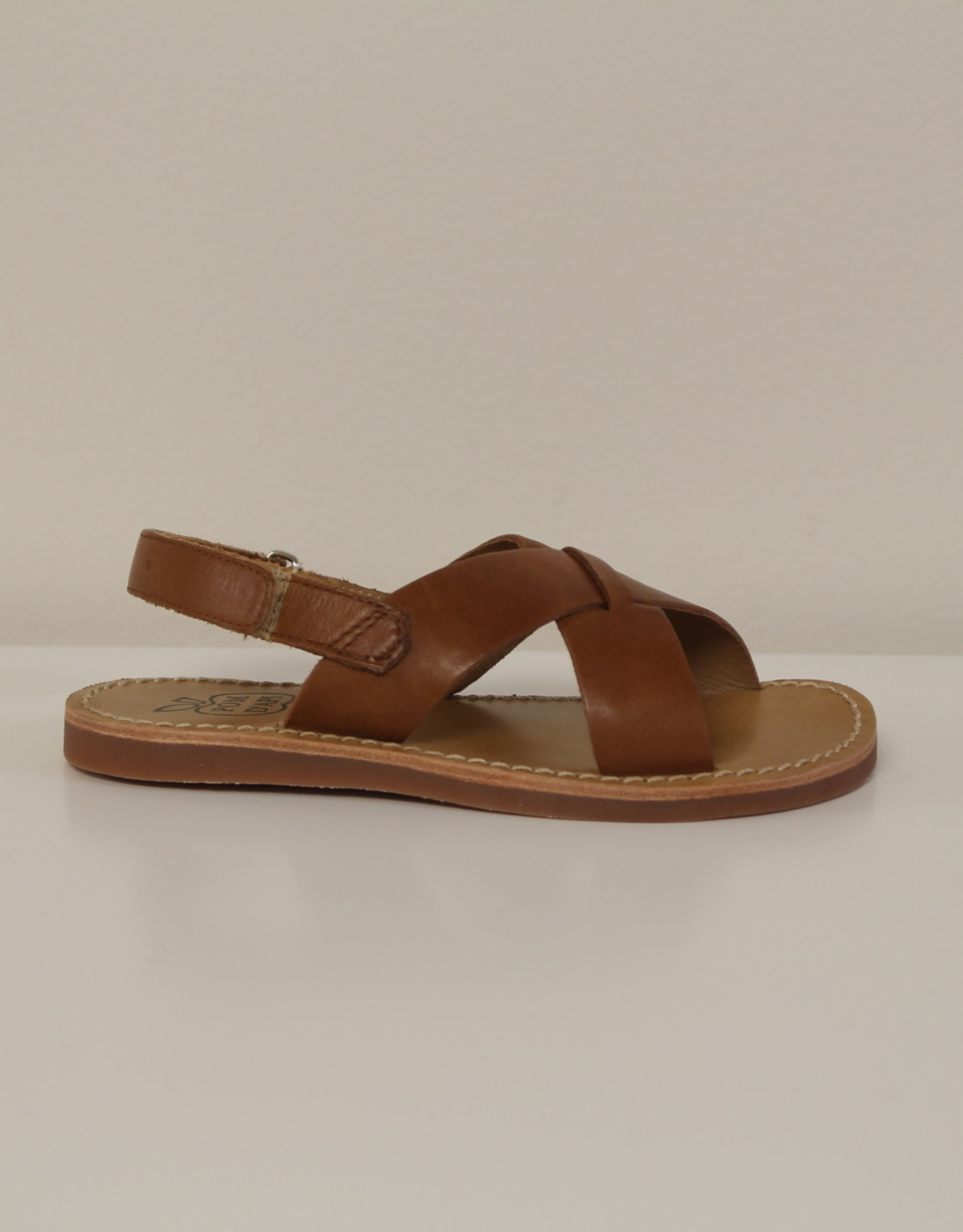 Pom d'api plage stitch sandaal cross oxford camel