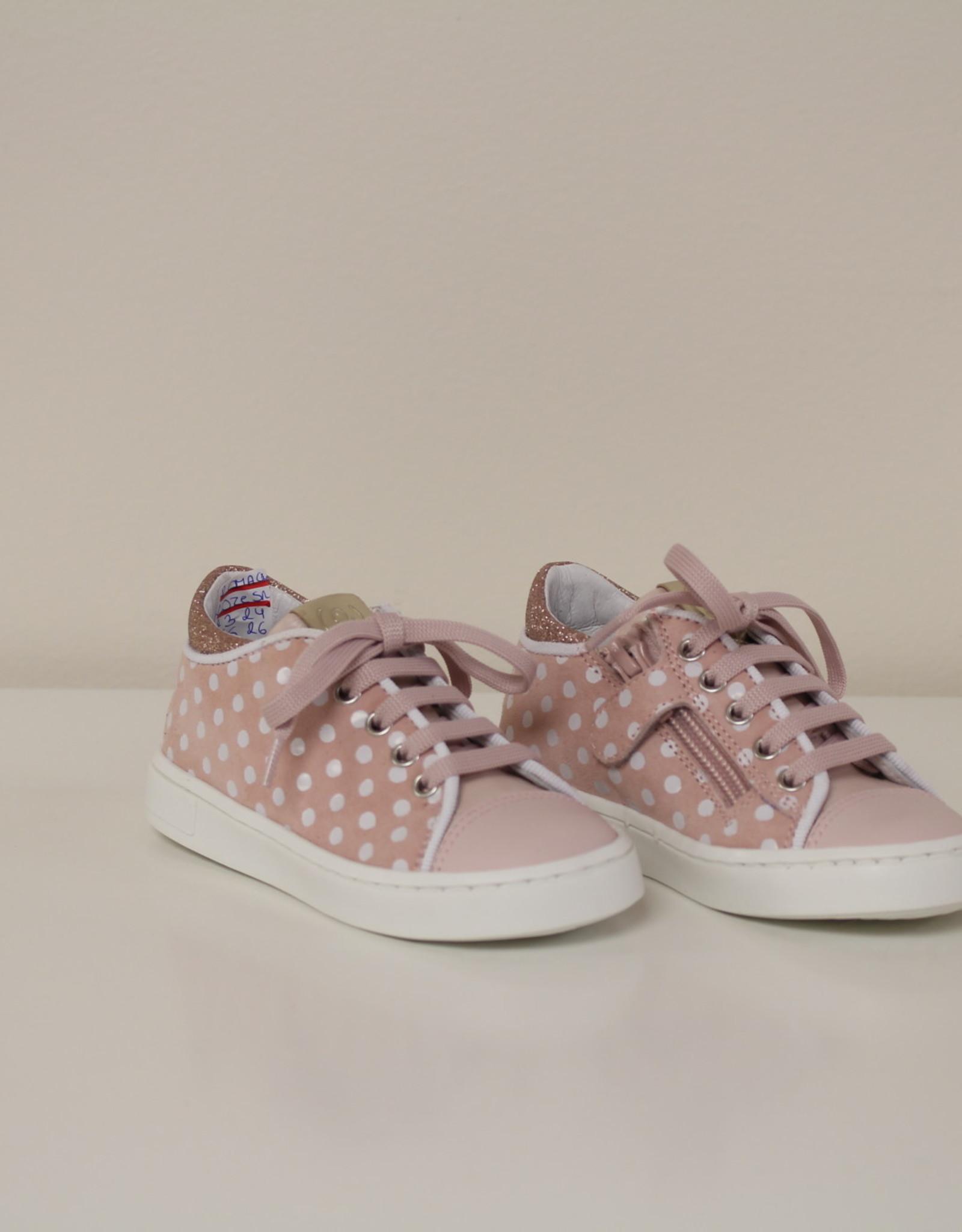 Romagnoli 5361 roze sneaker met bolletjes