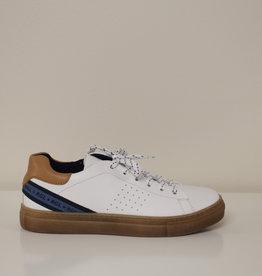 Romagnoli 5807 witte sneaker blauw cognac