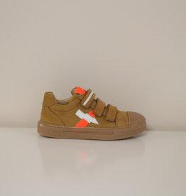 Lunella 20781 sneaker velcro accent oranje
