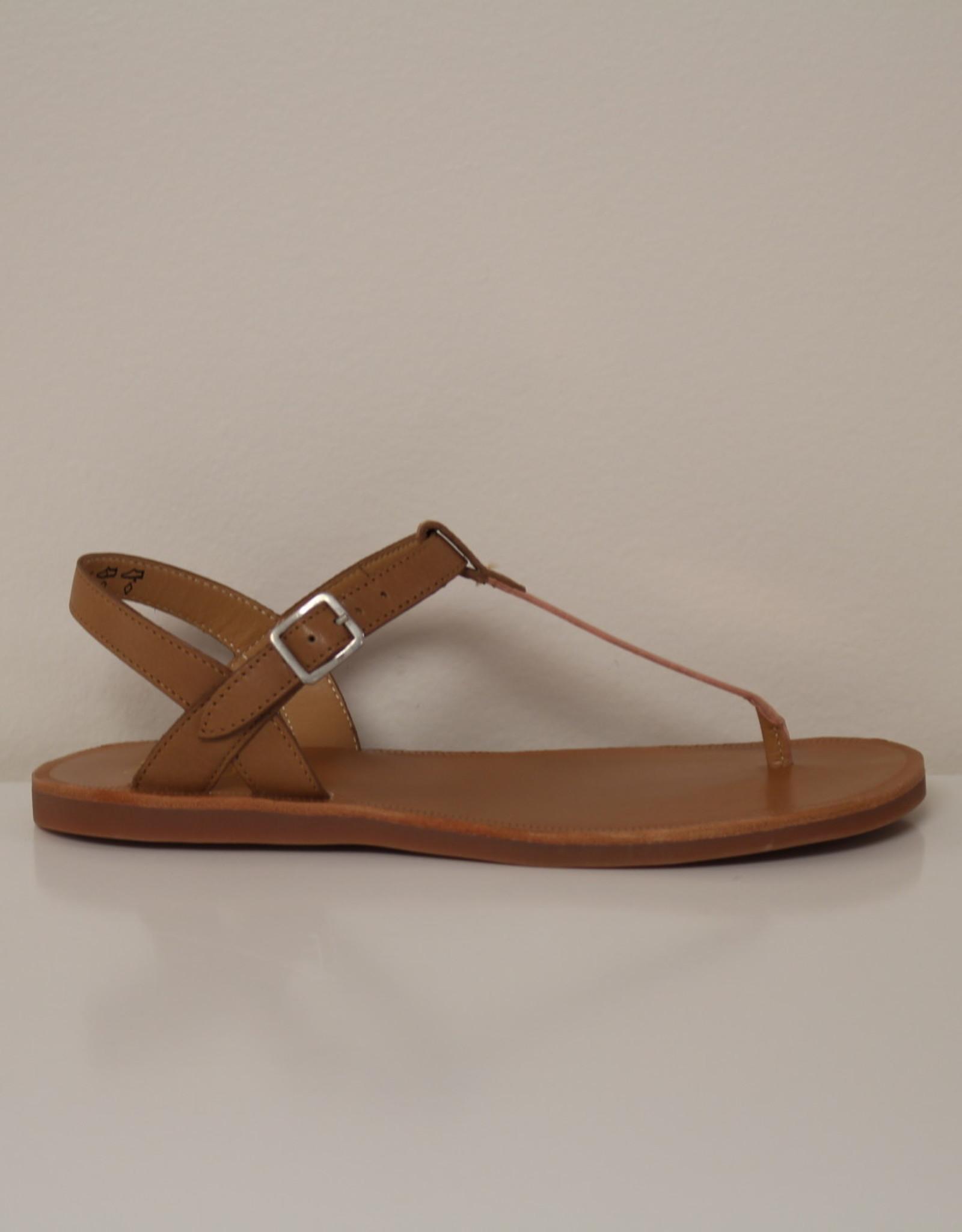 Pom d'api Plagette Tong sandaal camel/cuivre