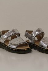 Dr Martens Romi sandaal silver crinckle metal