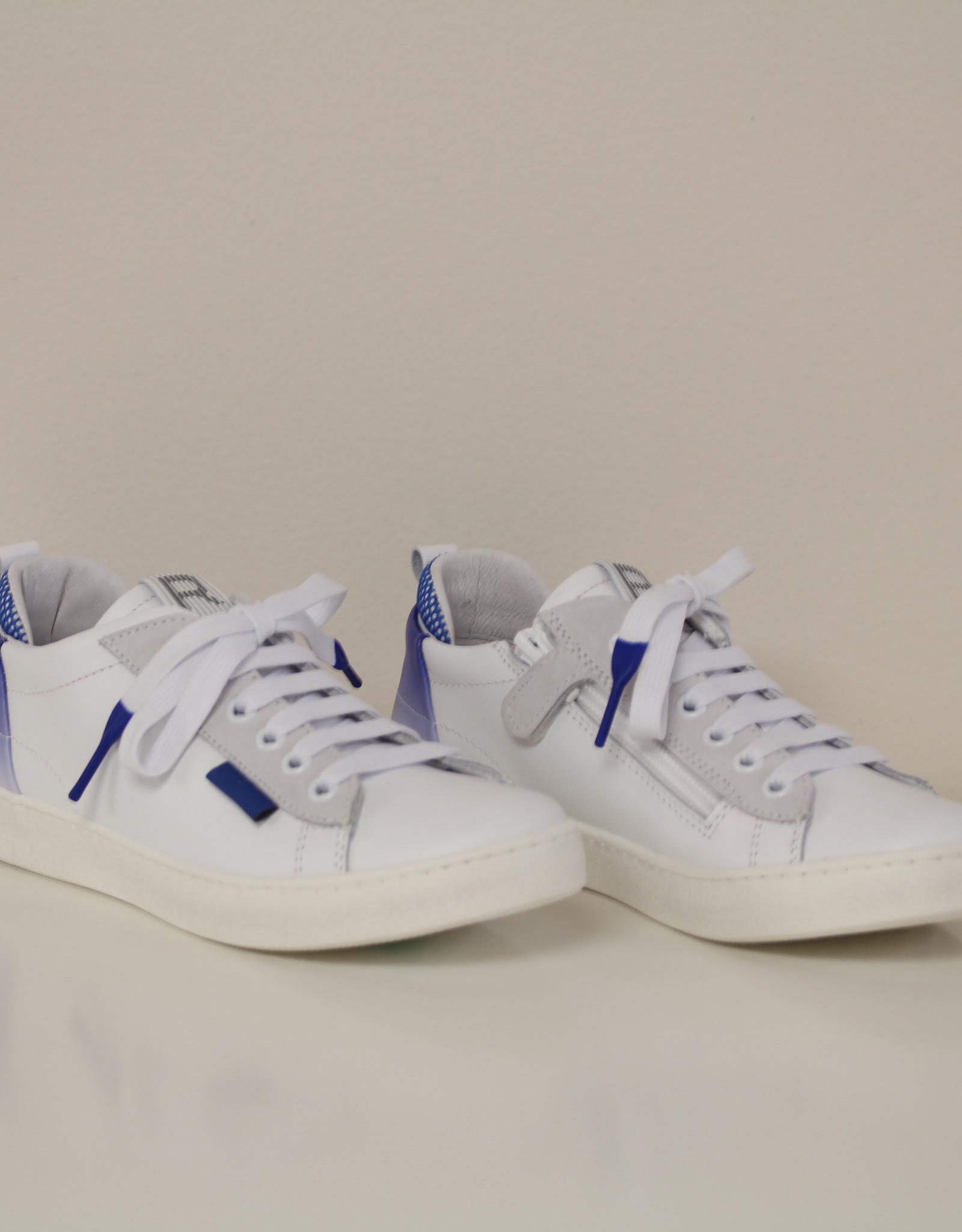 Romagnoli 5611 witte sneaker accent blauw