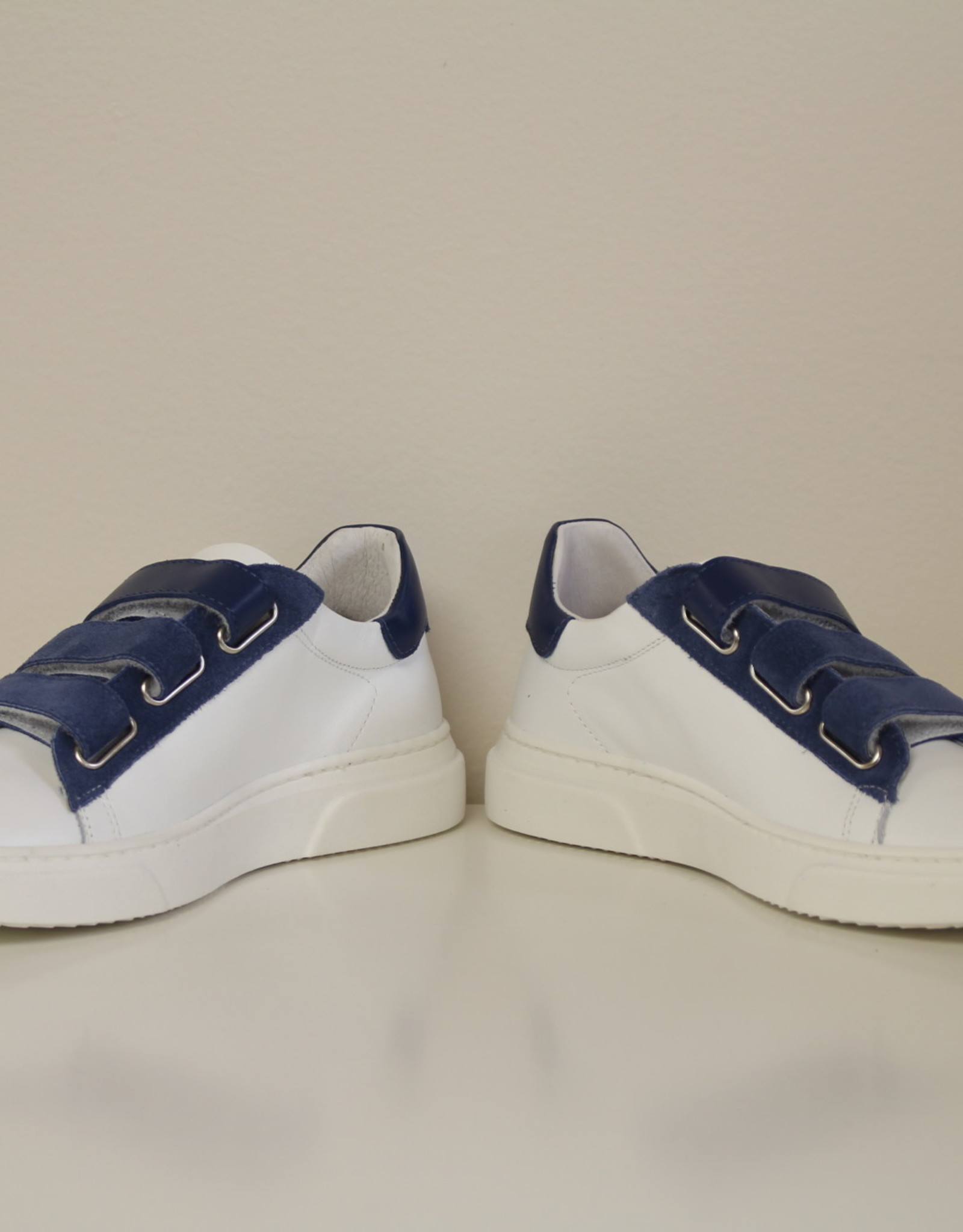 La Triboo 8537 witte sneaker velcro