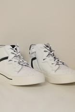 La Triboo 8493 hoge witte sneaker zwart accent