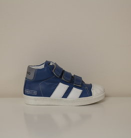 Momino 3132 hoge sneaker wit blauw