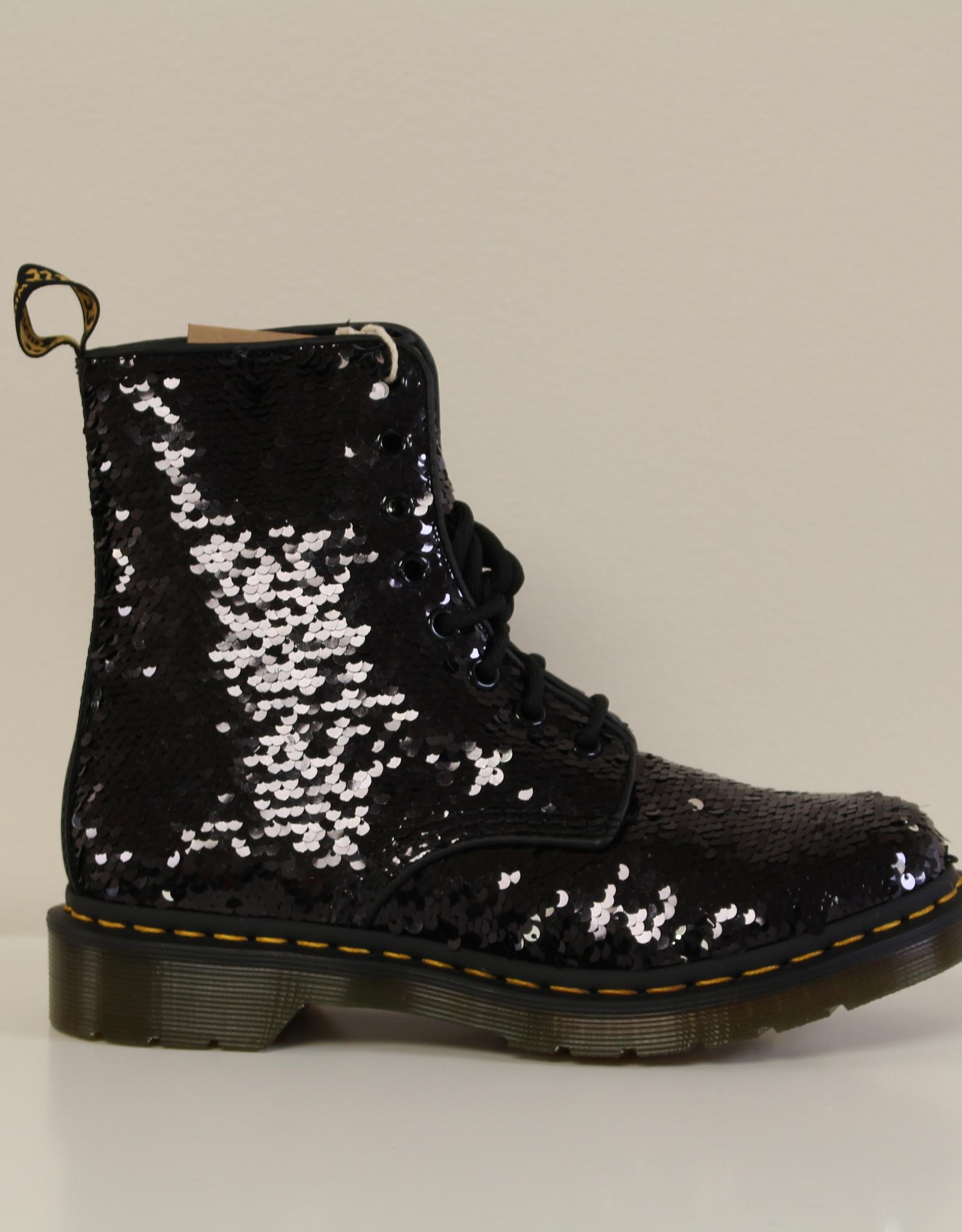 Dr Martens 1460 Pascal black sequin + hydro
