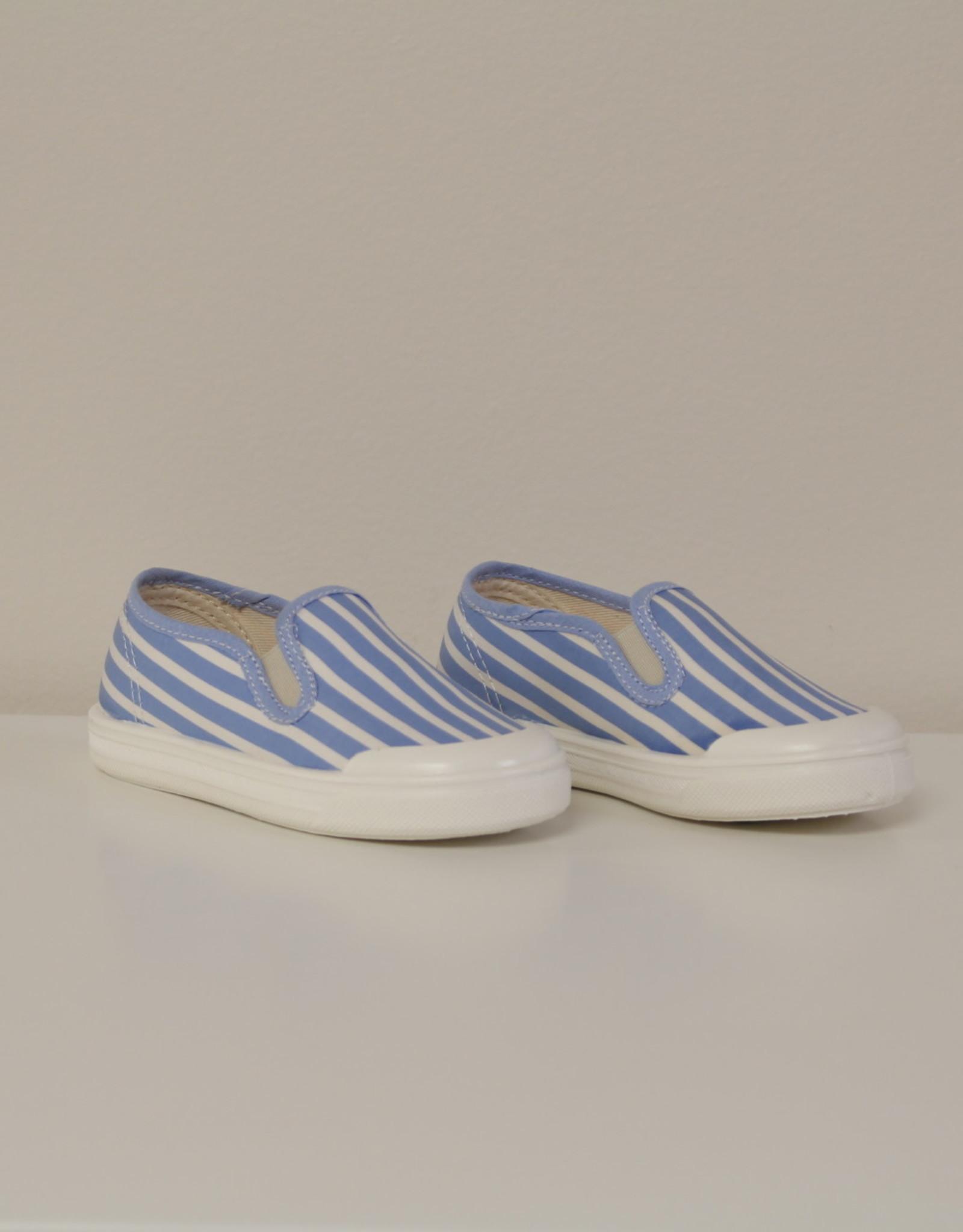 Pépé 00077 Tessuto shirt righe blauw/wit gestreept slip-on
