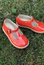 Young Soles t-bar shoe leather sole clementine
