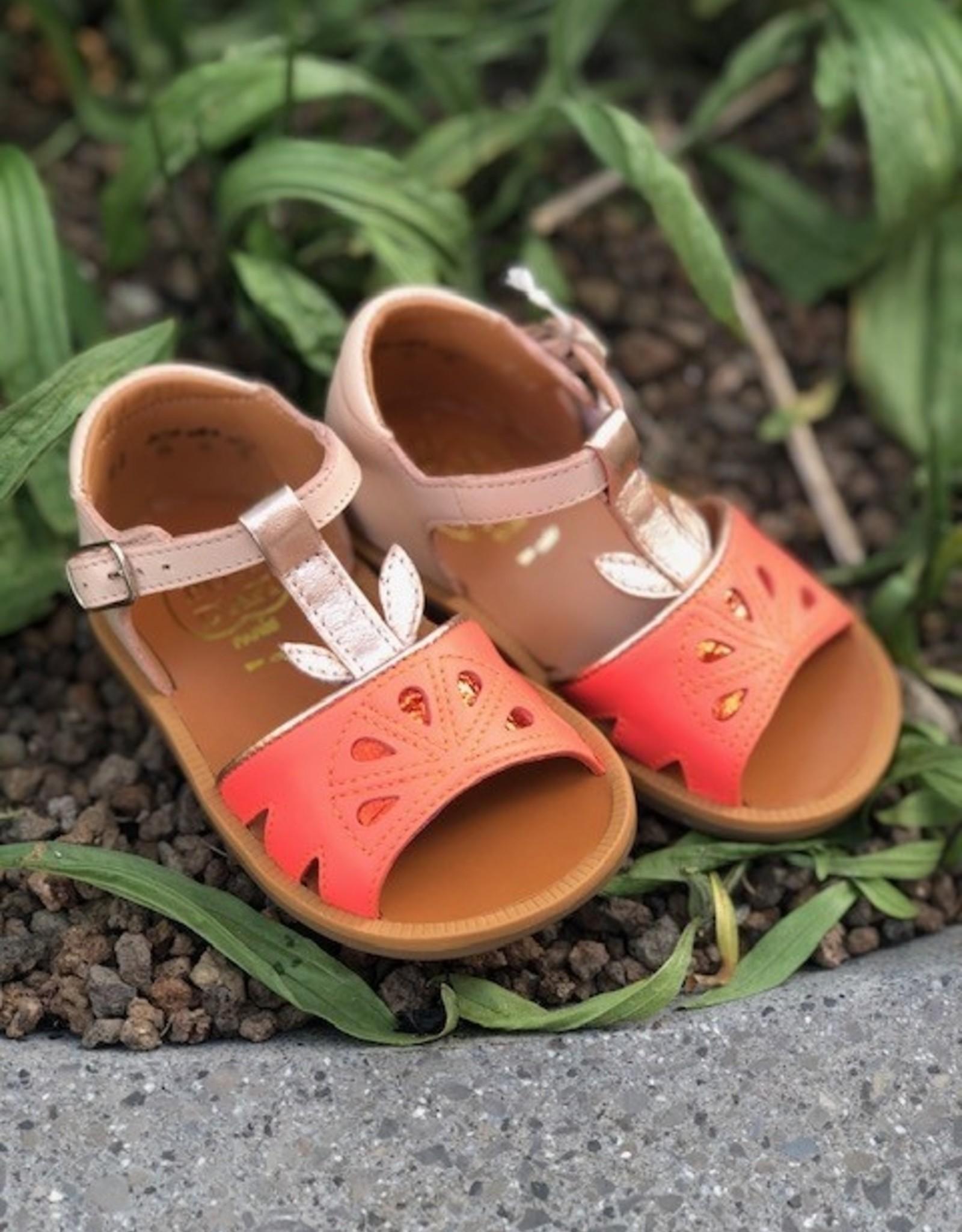 Pom d'api poppy agrume multi orange sandaal