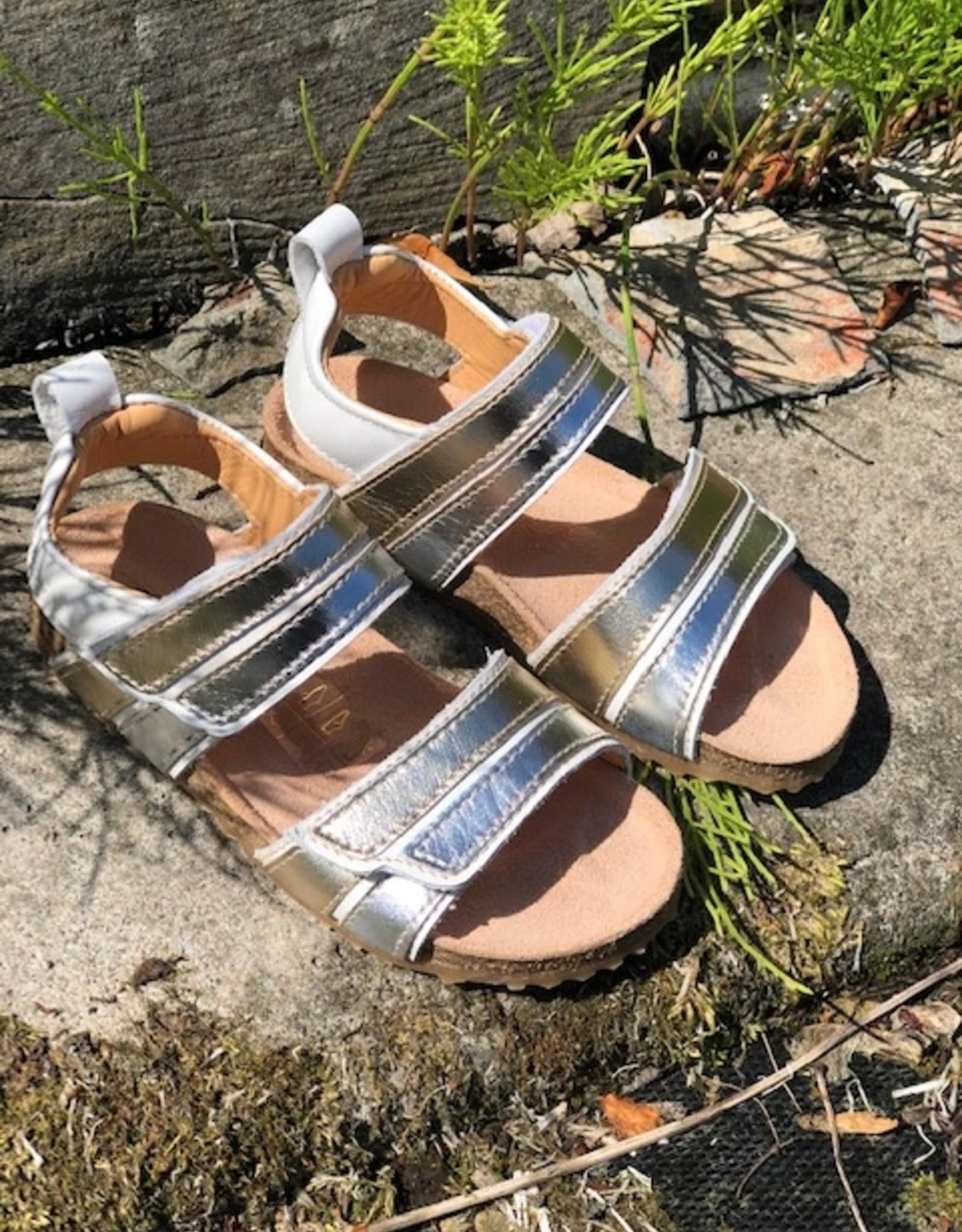 Ocra C321 sandaal wit goud zilver
