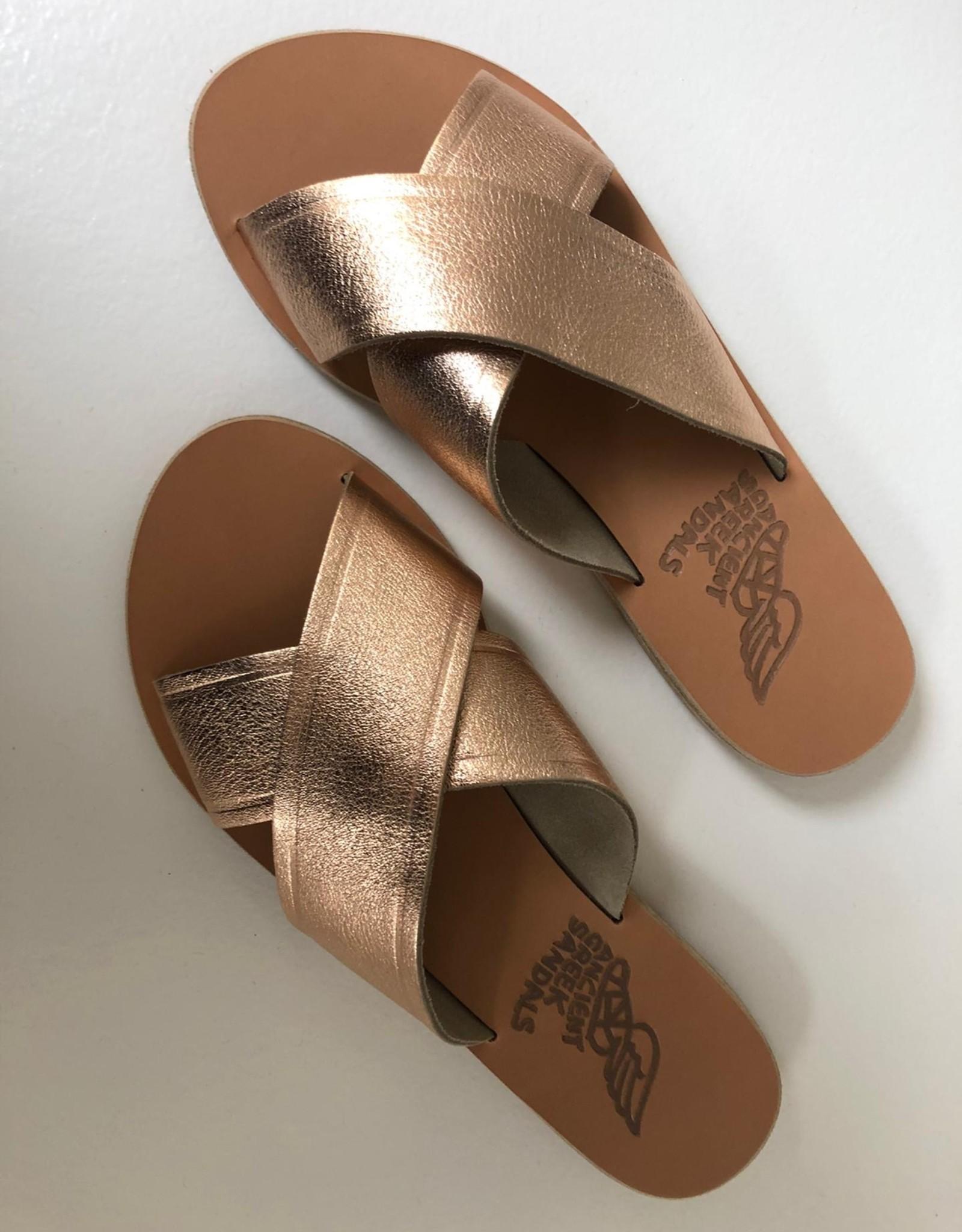 Ancient Greek Sandals thais pink metal/sand
