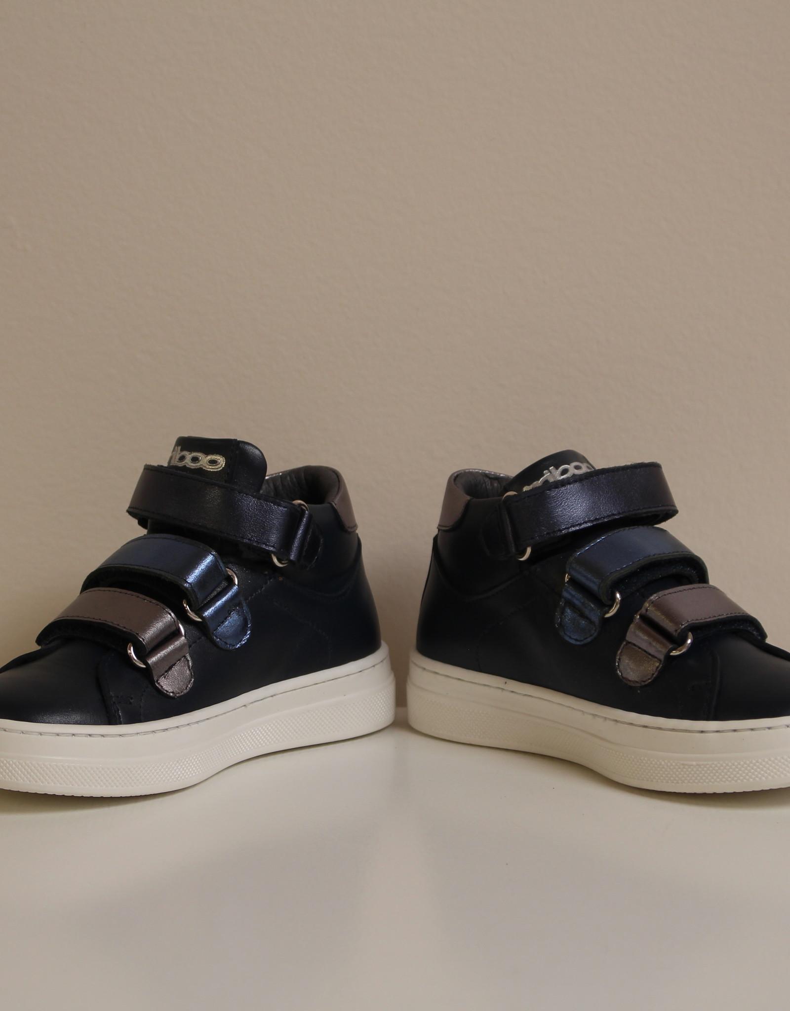 La Triboo 8716 hoge sneaker donkerblauw velcro
