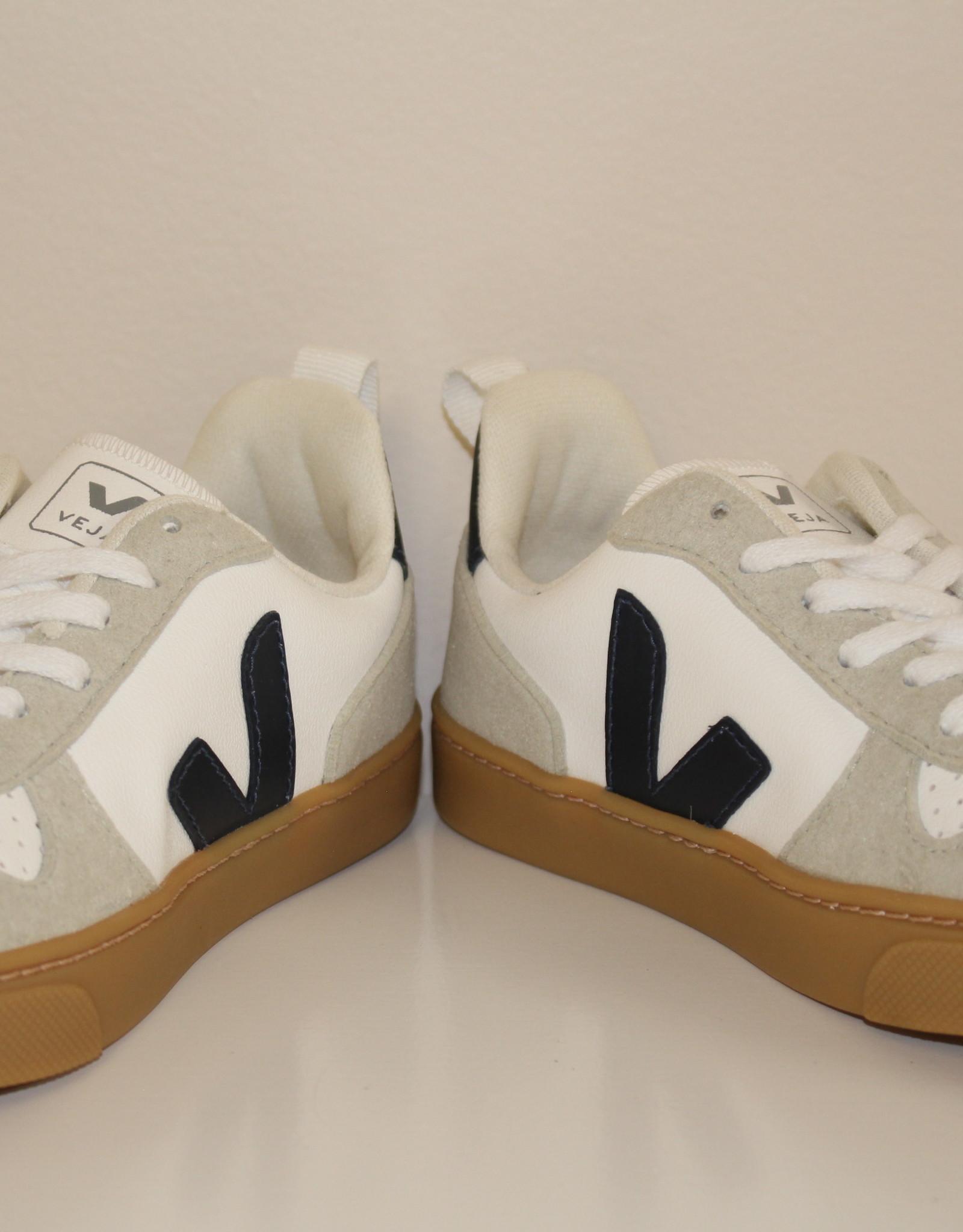 VEJA small-V-10-laces white nautico