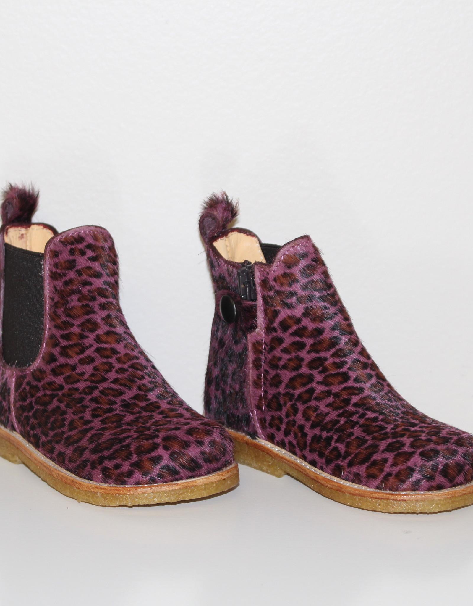 Angulus 6025-102 starter chelsea boot elastic rose leopard