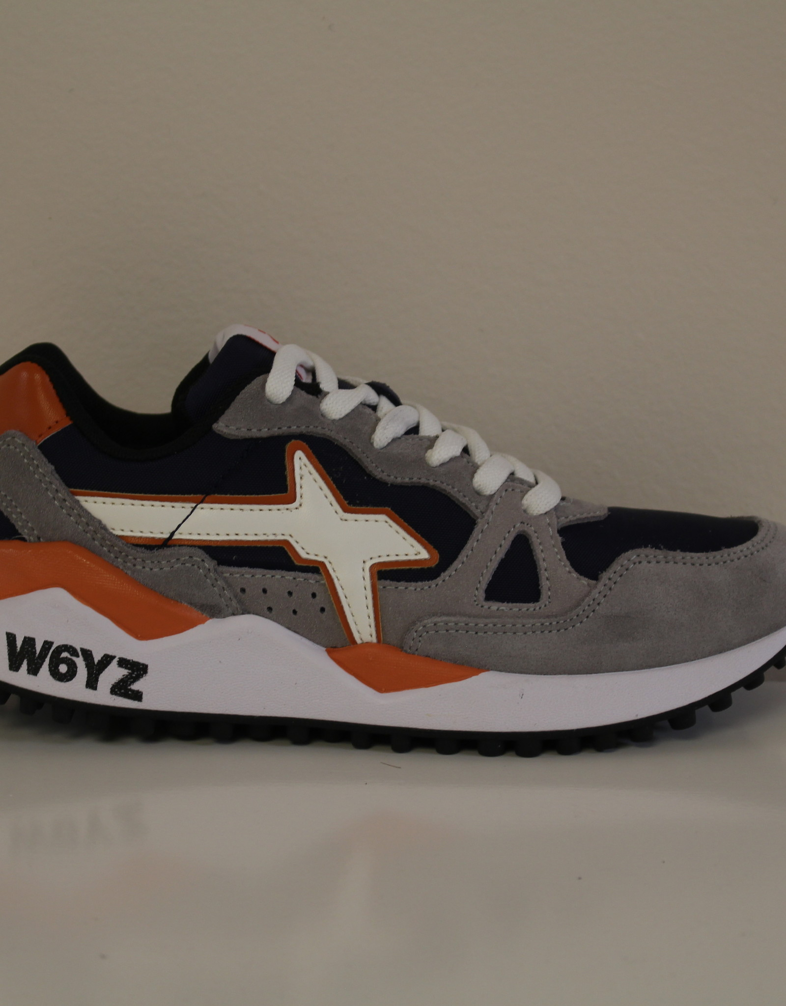 W6YZ wolf velour/cordura piombo-navy-arancio-bianco