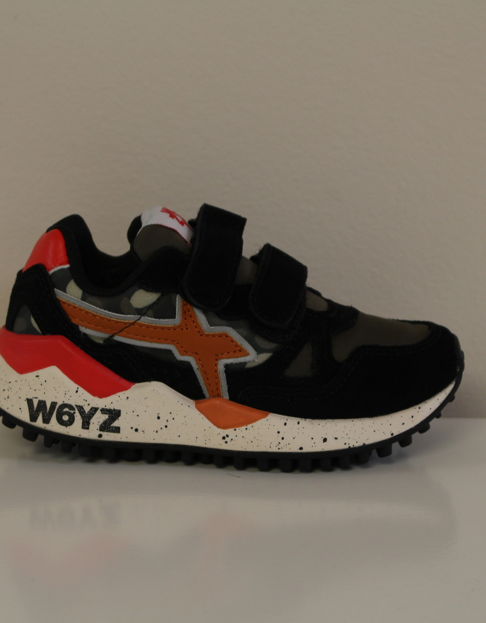W6YZ wolf velour/cord camouflage nero-militare-rosso