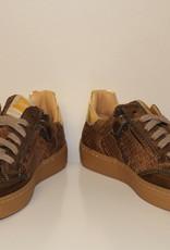 Ocra D402/16 sneaker bruin goud bliksem