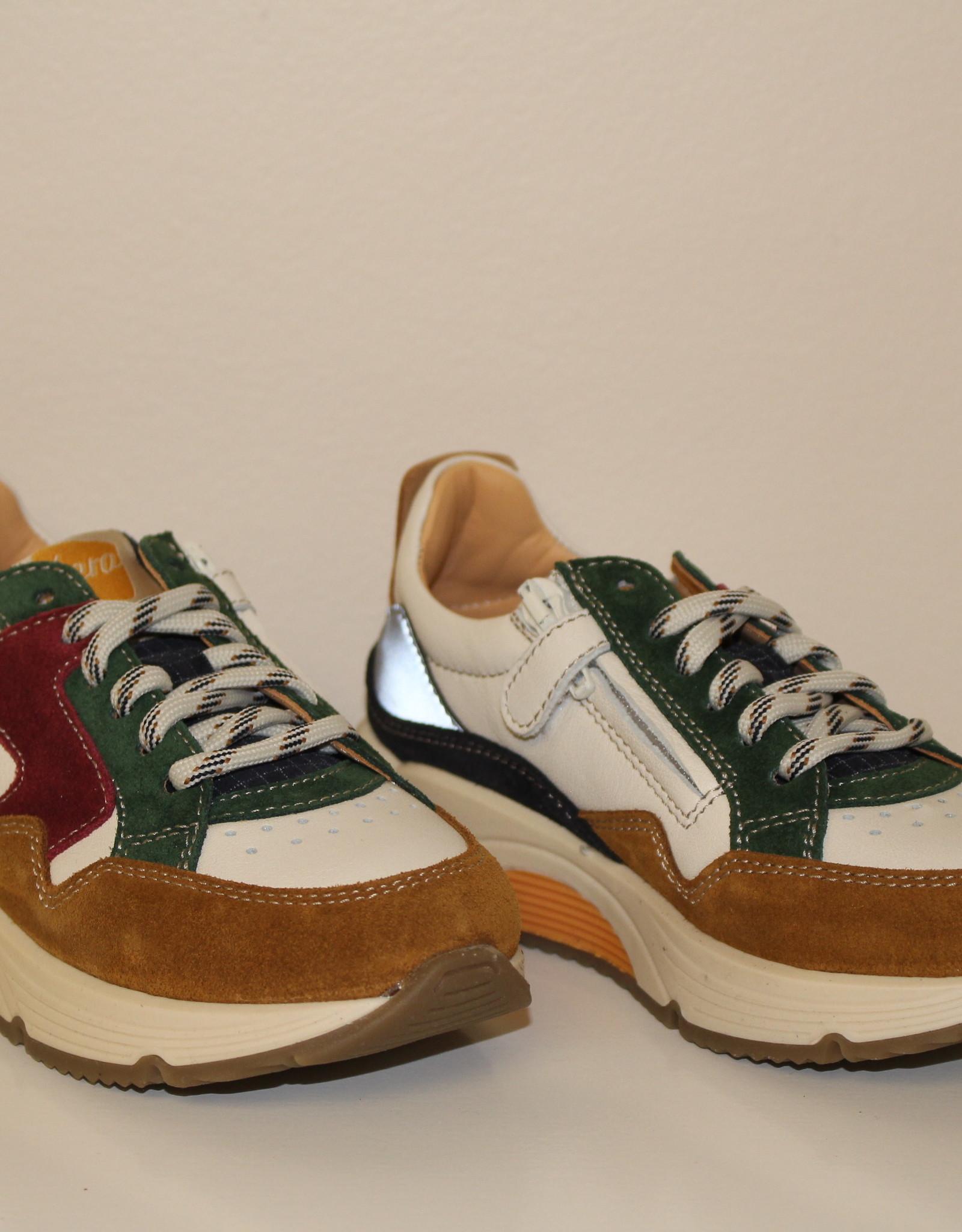 Ocra D370 sneaker bordeaux groen bruin