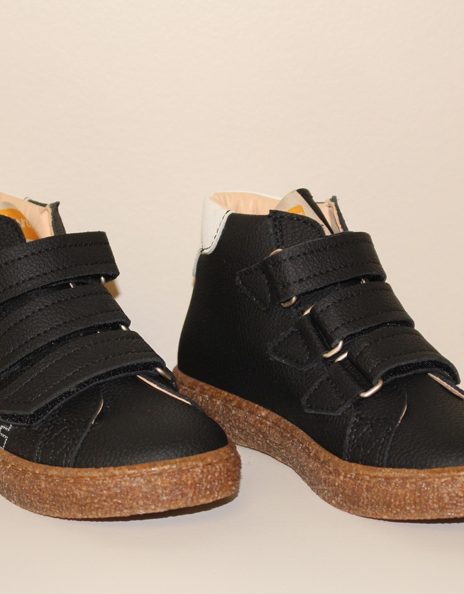 Ocra R004/8 recycle hoge zwarte sneaker velcro
