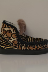 MOU sneaker pony mix & mink fur