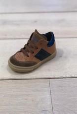 Rondinella 4384-1 sneaker veter/rits cognac blauw