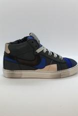 Rondinella 11855B sneaker blauw veter/rits