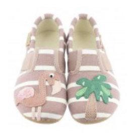 Kitzbuhel 3711 woodrose slipper flamingo & palm