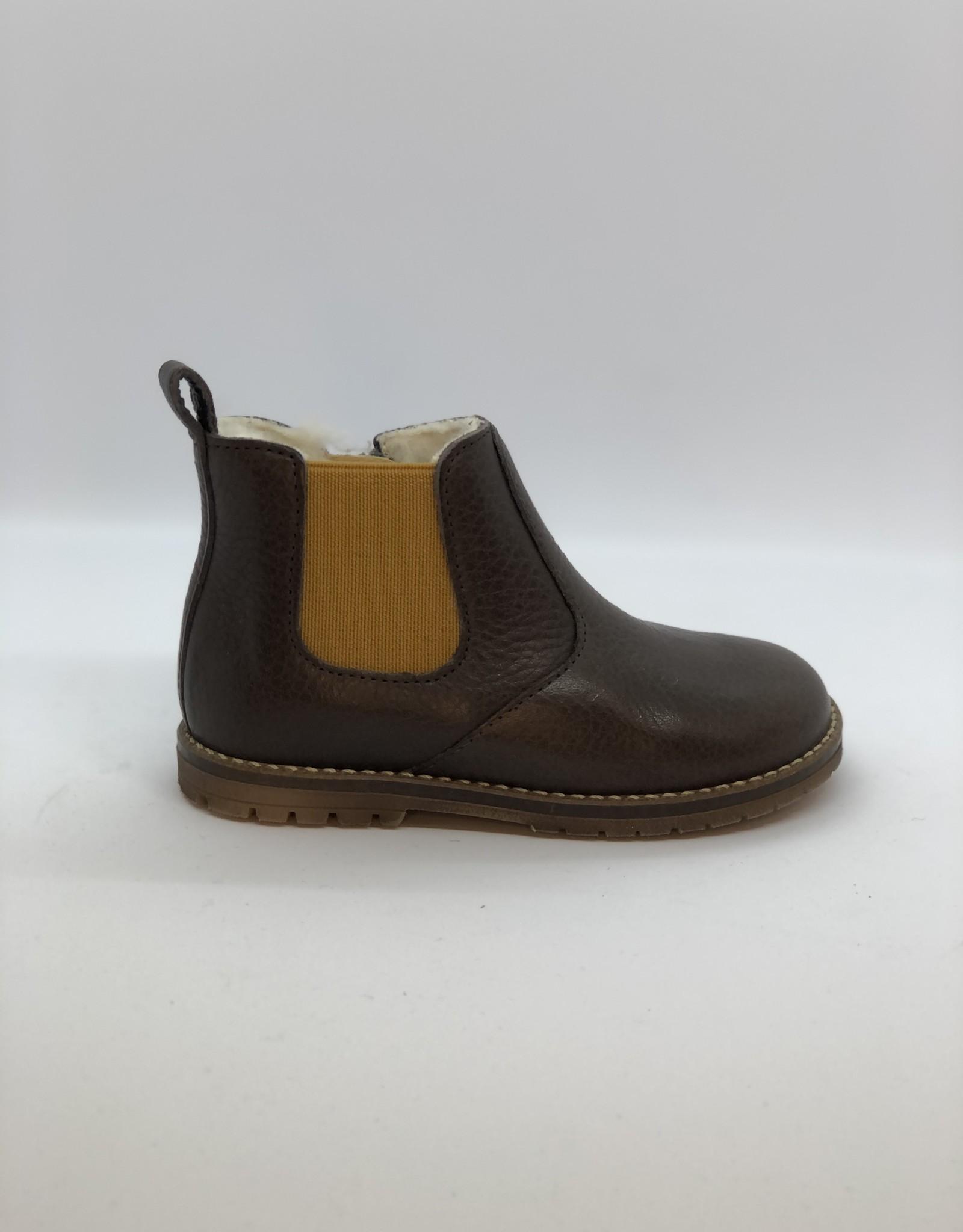 Clotaire Boreas zip boots marron/ocre