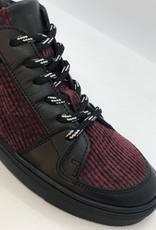 La Triboo 8830 sneaker zwart bordeaux