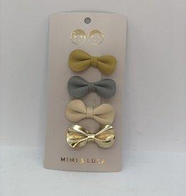 Mimi & Lula clips grijs/beige/goud/oker (4)