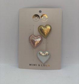 Mimi & Lula Metallic sweetheart clips