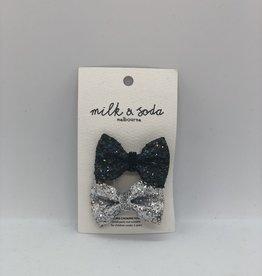 Milk&Soda MSHC18079 Milk & Soda Mini glitter bow duck clip
